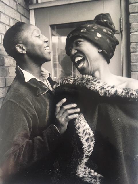 Foto: Gon Buurman. Raymond (rechts) met zijn Zuid-Afrikaanse buddy LeRoy