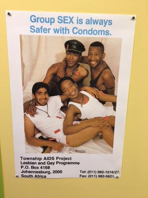Poster van het Township Aids Project, Soweto
